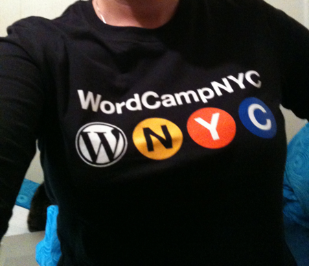 The WordCamp NYC shirt design.